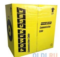 Кабель FTP Power Cube кат.5e МЕДЬ однож. 4х2х0.48 мм, экран, 305 м pullbox, серый (FLUKE TEST)  PC-FPC-5004E-SO