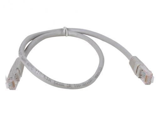 Сетевой кабель 0.5м UTP 5е Telecom NA102_GREY_0.50M patch cord литой, серый