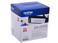 Лента Brother DK22205 бумажная клеящая белая 62мм