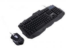 Клавиатура + Мышь игровой комплект MARVO KM400 (KM800), подсветка, кабель 1.5 м. клавиатура: 104 кл. 10 мультимедиа кл. мышь: 2400dpi, 6 кн.