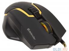 Игровой набор Warhead MP-1400 черный, мышь + ковер DEFENDER