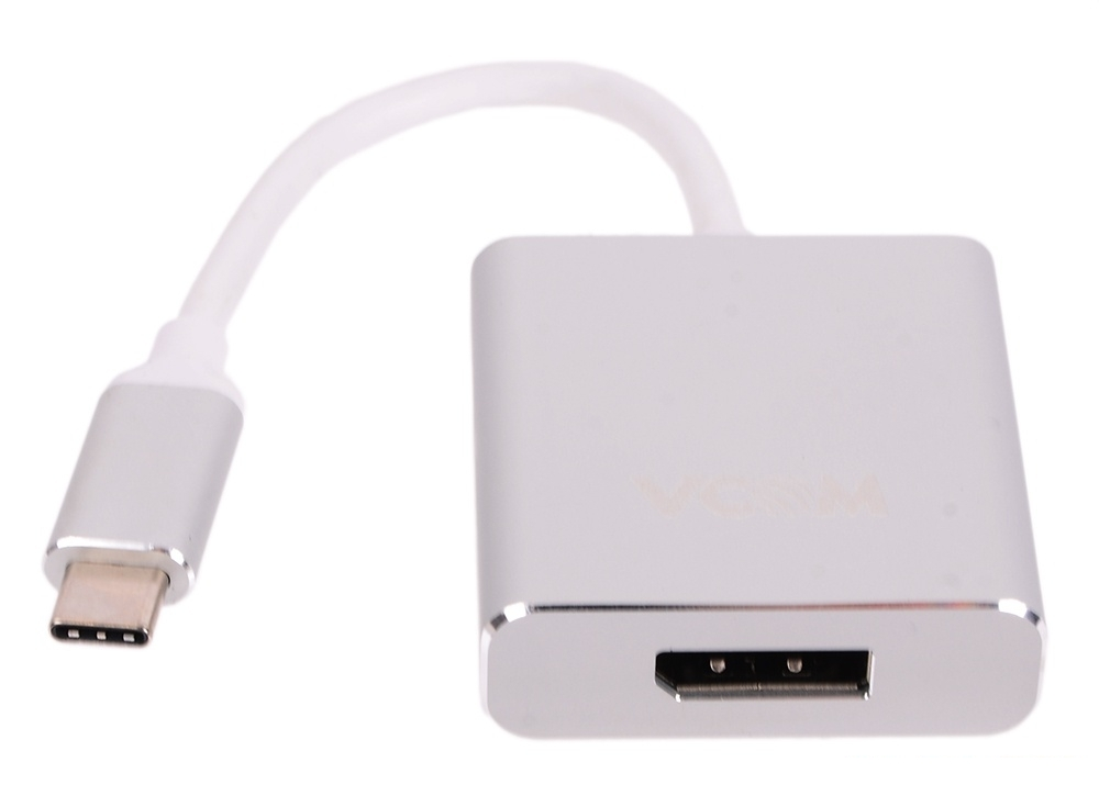 Кабель-адаптер USB 3.1 Type-Cm - DP(f) 3840x2160@30Hz, 10Gbps , 0,15m VCOM (CU422M)