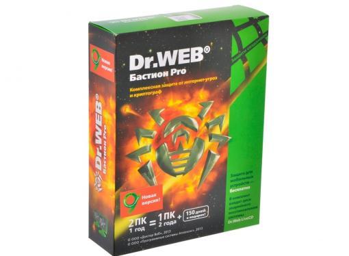 Антивирус Dr. Web Security Space + криптограф Atlansys Bastion 2 ПК на 12 мес, BOX (BHW-BR-12M-2-A3)