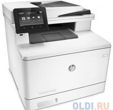 МФУ HP Color LaserJet Pro M477fnw (CF377A) принтер/сканер/копир/факс, A4, ADF, 27/27 стр/мин, 512Мб, USB, LAN, WiFi
