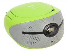 Аудиомагнитола BBK BX195U зеленый/серый