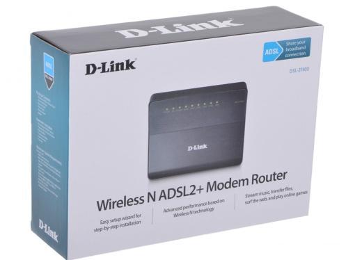 Маршрутизатор D-Link DSL-2740U/RA/U1A Беспроводной маршрутизатор ADSL2+ с поддержкой Ethernet WAN