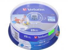 bd-r verbatim 25gb 6x 25шт cakebox full ink print