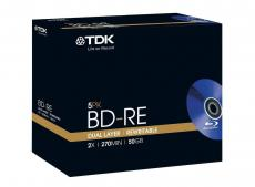 BD-RE TDK 50Gb 2x Double Layer Jewel (упаковка 5 шт)