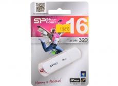 USB флешка Silicon Power LuxMini 320 White 16GB (SP016GBUF2320V1W)