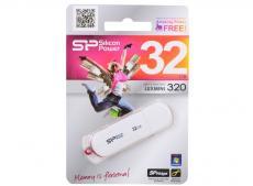 USB флешка Silicon Power LuxMini 320 White 32GB (SP032GBUF2320V1W)