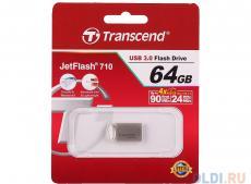 USB флешка 64GB USB Drive (USB 3.0) Transcend 710, Silver Plated (TS64GJF710S)