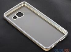 Силиконовый чехол с рамкой для Samsung Galaxy A3 (2016) DF sCase-22 (silver)