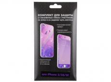 комплект для защиты из 2 цветных стекол для iphone 5/5s/se df ipicture-02 (butterfly)