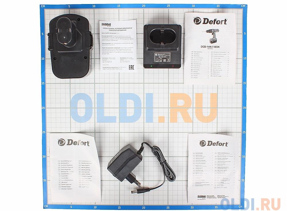 Аккумуляторный шуруповерт Defort DCD-14N-7-BDK