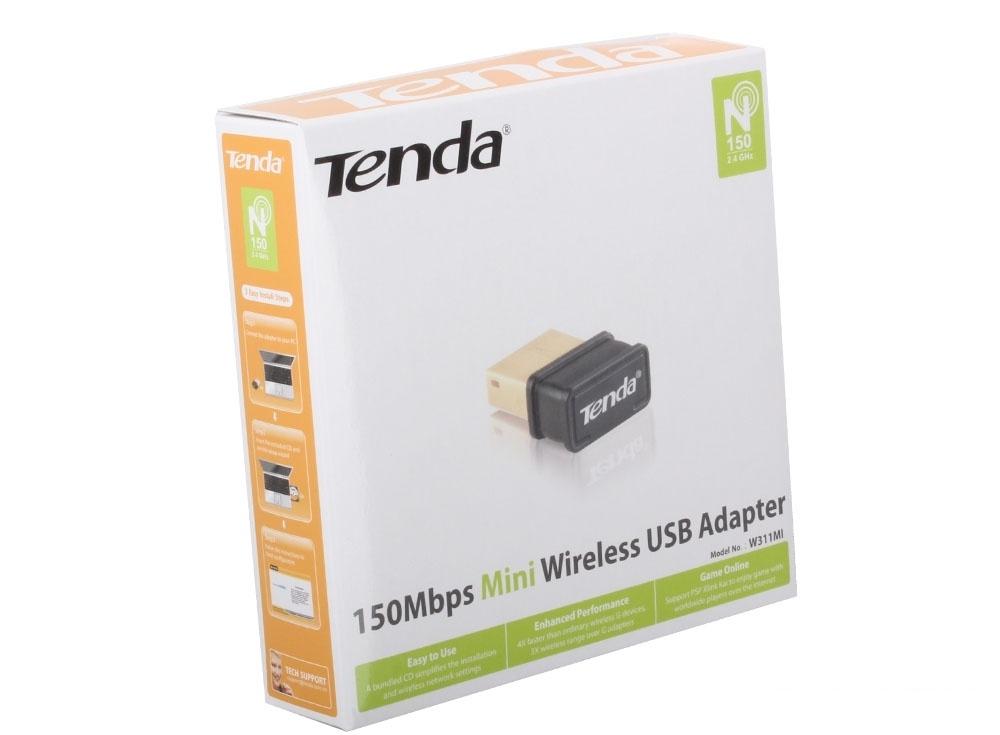 Беспроводной Wi-Fi адаптер Tenda W311MI 802.11bgn, 150Mbps, 2.4GHz, USB