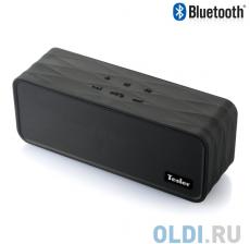 Портативная акустическая система TESLER PSS-555 Черный, Bluetooth, прорезиненный корпус, дисплей, Мощность колонок 2х4,5 Вт, FM Радиотюнер